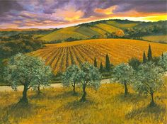 """After the Storm"" 24"" x 30"" Oil / Canvas, Chianti Region, Italy ORIGINAL AVAILABLE"
