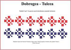 Model de camasa barbateasca din Tulcea, Dobrogea. Cross Stitch, Sewing, Tips, Blog, Romania, Traditional, Patterns, Embroidery, Crossstitch