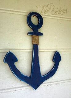 1924 Shabby Chic Anchor nautical decor with rope by kygracedesigns, $27.00