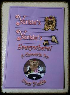 Yorkies Yorkies Everywhere~ Poems~ Yorkie Diary Book~Keepsake~ Yorkie Puppy Book by YorkiefiedCreations on Etsy
