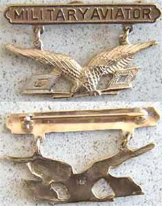 Reproduction of the first Military Aviation wings issued in 1913.
