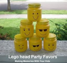 Lego Head party favors!  Filled with M