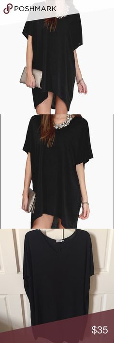 TOBI Simple Black Tunic Dress NWOT WORN ONCE! Perfect like new condition. This dress is no longer available through the Tobi online store! Flowy and loose, simple black tunic dress. Made of super soft and stretchy material. Let me know if you have any questions!! ❤️ Tobi Dresses