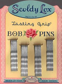 vintage bobby pin package