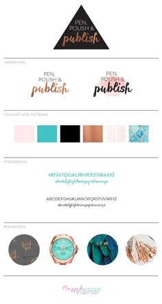 Logo and branding design for Pen Polish and Publish eCourse — Design by Alana Wimmer | Raspberry Stripes