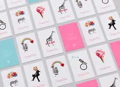 SugarSin business cards.