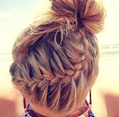 French braid hairstyle with directions.