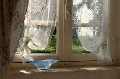 Traditional net curtains