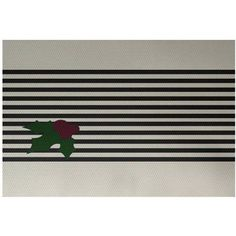 Simply Daisy 2' x 3' Holly Stripe Decorative Holiday Stripe Print Indoor Rug, Black