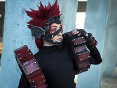 I always got my bros back! - - Trying to exude that sheer manliness kirishima is always talking about - - Huge shoutout to @lorentz_iwood awesome gears tutorial (so helpful!). And also to @ragegearprops for all your insights suggestions and guidance while I made kirishima and almost wanted to give up He was one of my toughest builds yet and Im just so happy hes almost complete. My full Fantasy/Hero Kiri will be ready for #animeexpo . Im still making my red sash piece and my leg bracers… Epic Cosplay, Amazing Cosplay, Cosplay Outfits, Cosplay Girls, Cosplay Costumes, Anime Cosplay, My Hero Academia, Fantasy Heroes, Kirishima Eijirou