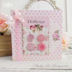 Shabby Art Boutique - Button Cards 1
