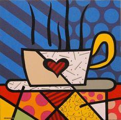 Great coffee - Releitura de Romero Britto
