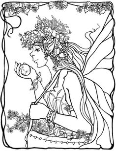 Mermaid Coloring Pages Mandala Adult Books Colouring Fairy Pictures Land Tales Mythological Creatures
