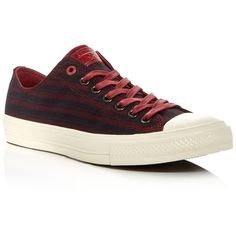 Converse John Varvatos Chuck Taylor All Star Ii Lace Up Sneakers ($140) ❤ liked on Polyvore featuring men's fashion, men's shoes, men's sneakers, red, g star mens shoes, mens lace up shoes, converse mens sneakers, mens red sneakers and converse mens shoes
