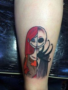 The Nightmare Before Christmas was a favorite movie of many people. Many people apply these nightmare before Christmas tattoos on their body. Couple Tattoos, Love Tattoos, Beautiful Tattoos, Body Art Tattoos, New Tattoos, Small Tattoos, Tatoos, Tattoo Art, Disney Tattoos