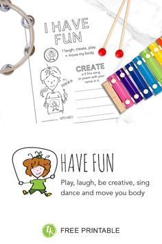 How to introduce kids to the happy habit of Having Fun Creative Activities, Fun Activities, Teaching Kids, Kids Learning, Time Kids, Move Your Body, Activity Sheets, Fun Challenges, Good Grades