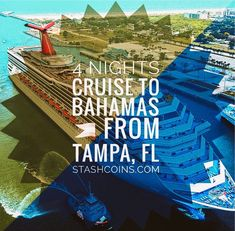 4 Night Cruise to Bahamas from Tampa Florida stashcoins.com Tampa Florida, Cruise, Vacation, Night, Cruises, Vacations, Holidays Music, Holiday