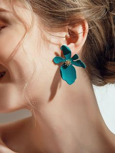 HuaTang Candy Color Earring Geometric Flower Shape Earring Set Cute Pericing Earrings Jewelry 4793 4795 Metal Color - You are in the right place about diy crafts Here we offer you the most beautiful pictures about th - Diy Jewelry, Jewelry Accessories, Handmade Jewelry, Jewelry Design, Jewelry Making, Silver Jewelry, Fashion Jewelry, Jewelry Box, Modern Jewelry