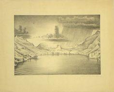 Künstler Niklaus Stoecklin  Titel Lago Maggiore  Technik Lithografie Figurative Kunst, Vintage World Maps, Painting, Art, Social Realism, Expressionism, World War One, Kunst
