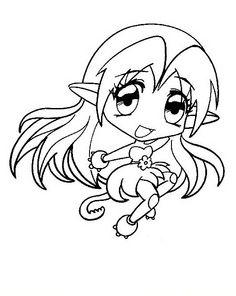 desenhos para pintar manga 16 - Manga Coloring Pages