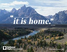 """""""Nature is not a place to visit -- it is home."""" --Gary Snyder. [Grand Teton National Park] 