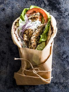 This is our version of a Greek classic. The hero of this combo is the soft, pillowy pitta, it's worth the effort to make your own. #RePin by AT Social Media Marketing - Pinterest Marketing Specialists ATSocialMedia.co.uk