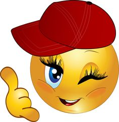 Cool Girl Call Me Smiley Emoticon Clipart