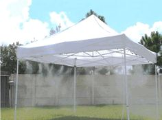 10x10 MistCooling Canopy Kit - just hook it up to your hose for a summer treat. ecanopy.com $399.95