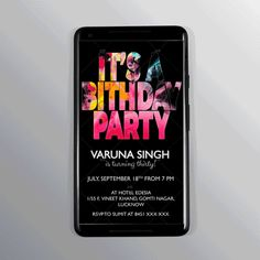 bright ink flowing on black invite.  Any design wishes; Contact Us. Designer Swapnil- NIFT Alumni