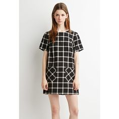 Forever 21 Gingham Shift Dress (1,150 PHP) ❤ liked on Polyvore