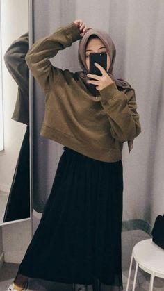 Referensi ootd Source by afridayunixx Outfits hijab Modern Hijab Fashion, Street Hijab Fashion, Hijab Fashion Inspiration, Muslim Fashion, Mode Inspiration, Korean Fashion, Fashion Outfits, Modesty Fashion, Style Fashion