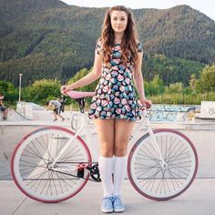 Bicycle babe #dress