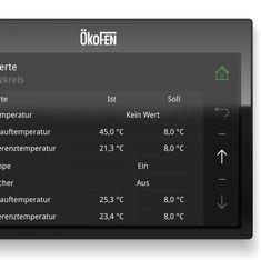 UI/UX für ÖkoFEN Touchpanels Interface Design, Ui Ux, Modern, Weather, Too Busy, Trendy Tree, User Interface Design, Weather Crafts
