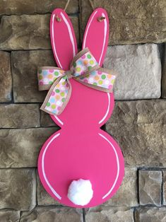 Most up-to-date Pictures CottonTail Door Hanger Happy Easter Bunny, Hoppy Easter, Easter Art, Easter Crafts For Kids, Bunny Crafts, Easter Eggs, Spring Crafts, Holiday Crafts, Diy Easter Decorations