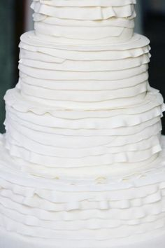 looks like a wedding dress! so many details but not over the top as it is classic white  #TheLANEweddings