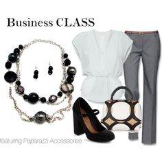 Business Class, created by theposhparent on Polyvore