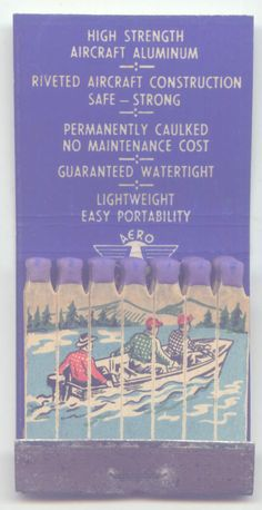 Feature Matchbook Areo Craft Aluminum Boats St Charles Michigan   eBay