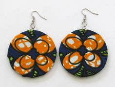 Fundi unique handcrafted African ankara fabric fashion earrings - Modern…