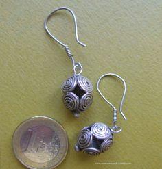 Anciennes Boucles d'Oreilles Méo en Argent 925. Méo Antique Silver Earrings #Ethnique