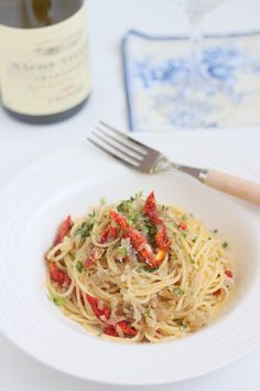 Pasta With Anchovy Sauce. Simple recipes!