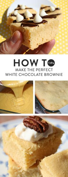 Imagine your perfect brownie: sweet, fudgy, and oh so chocolaty. Now turn it white! That's what this decadent white chocolate brownies recipe does so well.