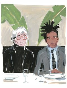 Andy Warhol & Jean Michel Basquiat - Jean-Philippe Delhomme illustration