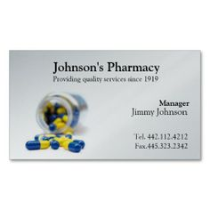 Pharmacy Business Card Pharmacist