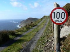 Sign showing speed limit on a road little better than a track in Co Donegal Ireland. is 62 miles an hour. Love Ireland, Ireland Travel, Immigration Quebec, Photo Humour, West Cork, Irish Eyes, Connemara, Luck Of The Irish, Irish Luck