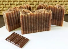 """S'Mores"" Custom Scented, Natural Handmade Organic Cocoa Butter Soap Bars! Get your CHOCOLATE fix! by earthsownbathnbody, $5.50 per bar (or 3 for $12, or 6 for $20 Mix & Match Packs; Available in my shop)"