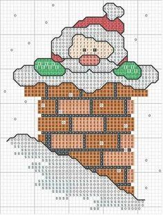 Santa-Christmas cross stitch (no colors listed)