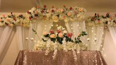 DIY canopy and stage backdrop decor DIY floral decor DIY wedding decor DIY PVC pipe canopy decor is part of Wedding decorations youtu be - Backdrop Decorations, Wedding Reception Decorations, Wedding Centerpieces, Backdrops, Decor Wedding, Wedding Receptions, Anniversary Decorations, Diy Wedding Backdrop, Wedding Mandap