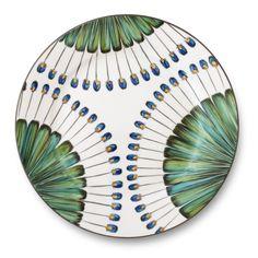 peacock pattern by Pinto Paris on www.modenus.com #dinnerware