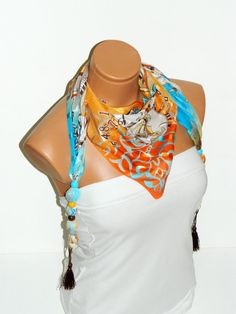 2012 summer trends multicolor fabric scarves by WomanStyleStore, $14.00