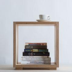 Plywood bedside cabinet